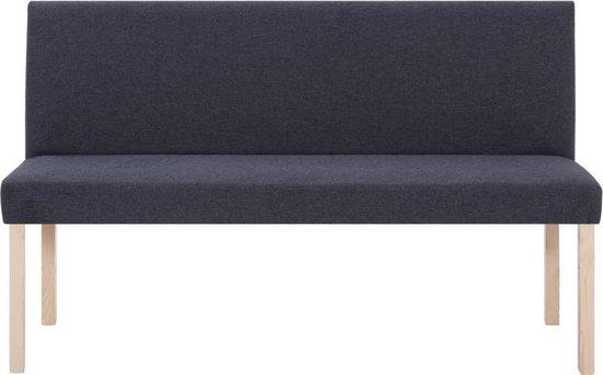 vidaXL Bankje 139,5 cm polyester donkergrijs