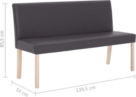 vidaXL Bankje 139,5 cm kunstleer grijs