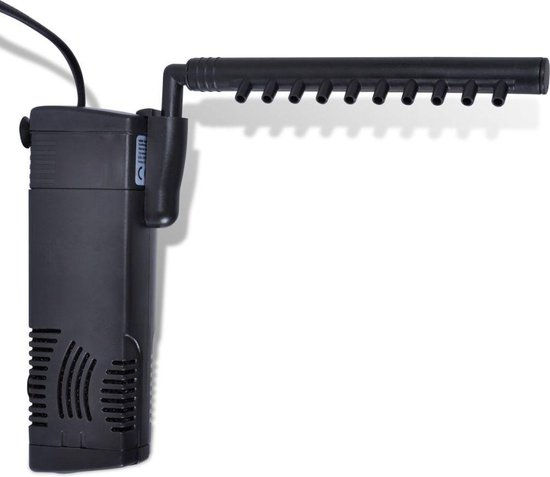 VidaXL Aquarium Filter Pomp - Aquariumpomp - Met Actieve Koolstof - 300 L/H