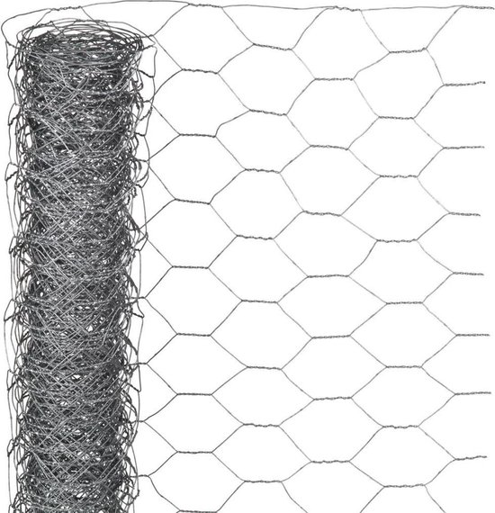 Nature Tuinhek kippengaas grijs 0.5x5 m 6050216