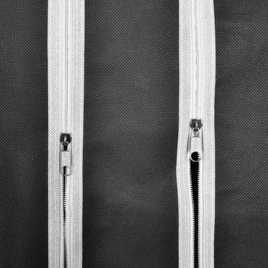 vidaXL Kledingkast - 176 cm - Opvouwbaar - Zwart