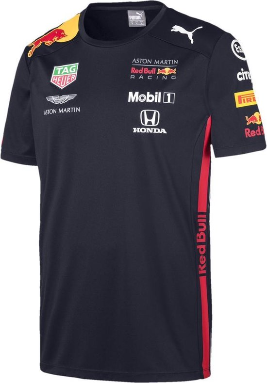 PUMA Red Bull Racing Team Tee Sportshirt Heren - Night Sky - Maat XL