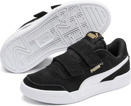 PUMA Caracal SD V PS Sneakers Kinderen - Puma Black-Puma White-Puma Team  Gold - Maat 32