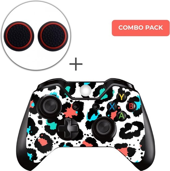 Luipaard Print Multi Combo Pack – Xbox One Controller Skins Stickers + Thumb Grips