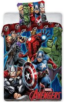 Marvel Avengers Dekbedovertrek Schild - Eenpersoons - 140 x 200 cm - Multicolour