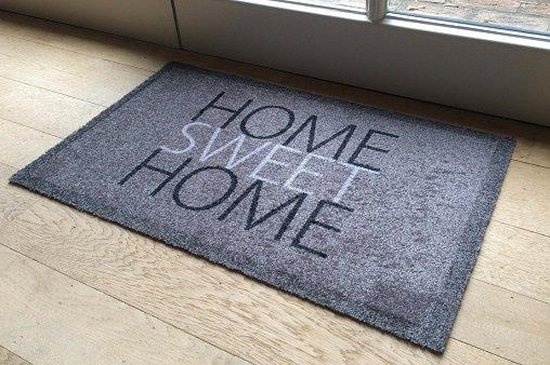 Ikado  Deurmat grijs Home sweet home  40 x 60 cm - Ikado