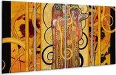 Glasschilderij Modern | Geel, Bruin, Zwart | 160x80cm 4Luik | Foto print op Glas |  F004879