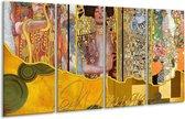 Glasschilderij Modern | Geel, Bruin, Zwart | 160x80cm 4Luik | Foto print op Glas |  F004881