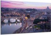 Canvas schilderij Uitzicht | Paars, Grijs | 120x70cm 1Luik