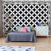 Fotobehang Black And White Pattern | VEA - 206cm x 275cm | 130gr/m2 Vlies