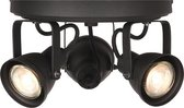 Trend Living Aken Spot - Zwart - Metaal - 3 Lichts