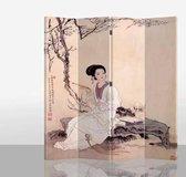 Chinees Kamerscherm 4 Panelen Aziatisch Huishouden