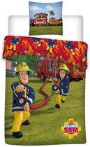 Brandweerman Sam - Dekbedovertrek - Eenpersoons - 140x200 cm + 1 kussensloop 63x63 cm - Polyester