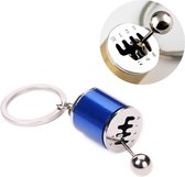 Handgeschakelde zesversnellingsbak met sleutelhanger Sleutelhangerhouder (blauw)