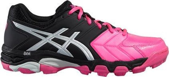 Asics Gel Hockey Blackheath 6 zwart roze hockeyschoenen dames (P665Y 2093)
