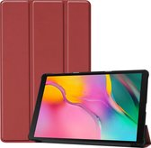 Samsung Galaxy Tab A 10.1 (2019) hoes - Tri-Fold Book Case - Donker Rood