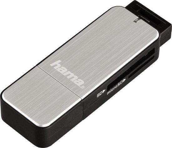 Hama USB 3.0 card reader SD/Micro SD, zilver