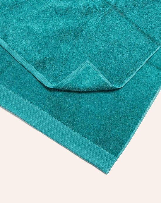 Van Morgen Handdoek Morning Flow Morning Flow - Turquoise - 70x140cm - Van Morgen