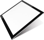 Professionele versie A3 Lightpad / LED licht Lichtbak / Tekentafel / Lichttafel / Lichtbox / Lightbox met 3 dimbare lichtstanden, o.a. Diamond Painting, fotografie, tekenen, tattoo etc met maatvoering