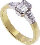 18 karaat bicolor ring met diamant