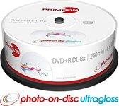 Primeon 2761253 lege dvd 8,5 GB DVD+R DL 25 stuk(s)