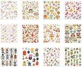 Stickerboek. hele jaar. 15x16.5 cm. 12 vel/ 1 stuk