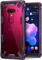 Ringke Fusion X HTC U12 Plus Hoesje Doorzichtig Lilac Purple