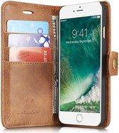 Apple iPhone SE (2020) Portemonnee Hoesje Echt Leer Bruin