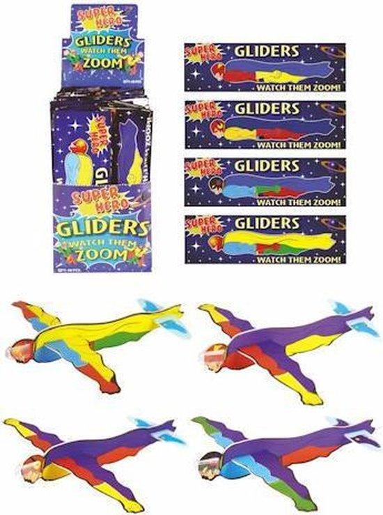 48 STUKS   Fighter Gliders - Model: Super Helden in Display (Uitdeelcadeautjes)