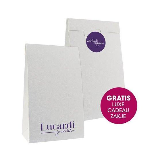 Zilveren enkelband bedels zwart - Lucardi