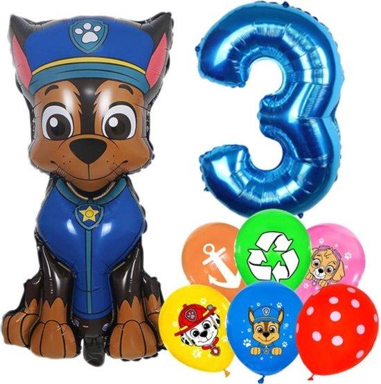 Paw Patrol Ballonnen Set Chase- 3 Jaar - Latex Ballonnen - Decoratie