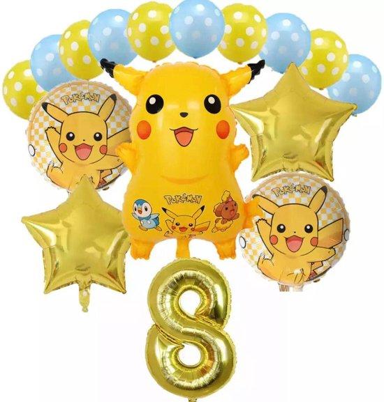 Pokemon Pikachu Ballon16 Stks/set   Verjaardagsfeestje Decoratie Set Cartoon Dier Pocket Elf Aluminium Folie Ballon Verjaardag Geschenken