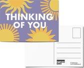Thinking of you - Ansichtkaart motiverende tekst - Ik denk aan je kaart - A6 Positieve Motivatie Print - Postcard/card