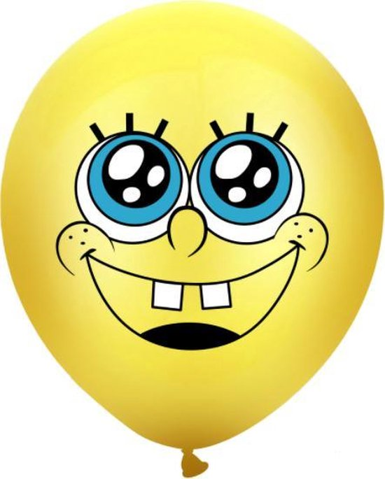 Spongebob ballonnen (10 stuks)  Verjaardag