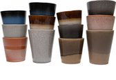 Koffiekopjes - Earth koffiemok - koffiebeker - set van 12 kopjes (ook los verkrijgbaar) - 200ML en 310ML - porselein - hip en trendy