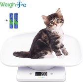 Dierenweegschaal Puppy Kitten Keukenweegschaal digitaal Weegschaal - Dieren Weegschaal - Keuken Weegschaal met Kom - Precisie Weegschaal - Kleine Weegschaal tot 10 kg