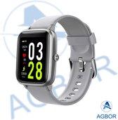 Agbor Smartwatch - 10-daagse batterijduur - Sporthorloge – Smartwatch Dames – Smartwatch Heren – Smartwatch Kinderen – waterproof - Stappenteller