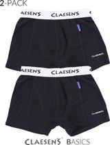 Claesen's Jongens 2-pack Boxershort - Donker Blauw - Maat 152-158