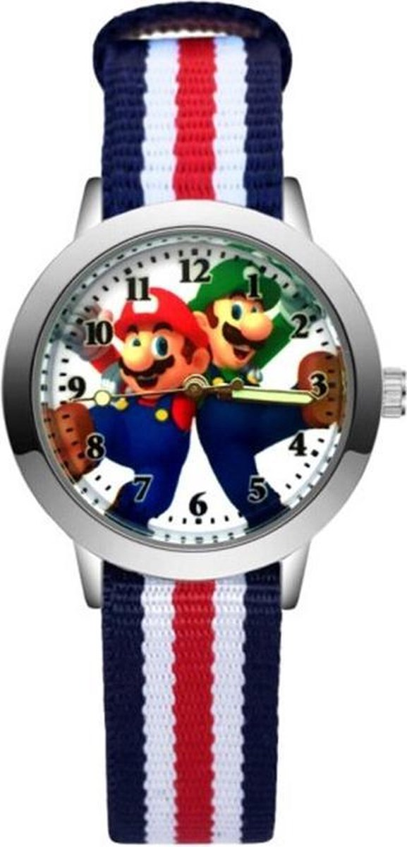 Super Mario - Kinderhorloge - Mario - Horloge - Mario Kart - Mario Speelgoed - 5 Strepen