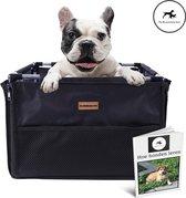 Luxe Autostoel hond zwart - Inclusief opbergtas en E-Book - Reisbench hond - Hondenmand auto - Autobench voor hond - Hondenstoel auto