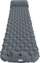 AirFeel opblaasbaar slaapmatje - Ingebouwde pomp en kussen - lichtgewicht - 196 x 60 x 6cm - Gray
