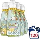 Robijn Collections Kokos Wasverzachter - 4 x 30 wasbeurten - Voordeelverpakking