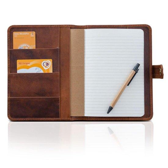 Jb-Luxo Notitieboek – Notitieboek a5 – Notitieblok Hardcover – Leren Notitieboek – Vintage Notitieboek - Bruin - Leer - Navulbaar