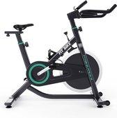FitBike Race 2 - Spinningbike incl. trainingscomputer - 13kg Vliegwiel - Spinningfiets voor thuis - V-belt aandrijving - Zwart