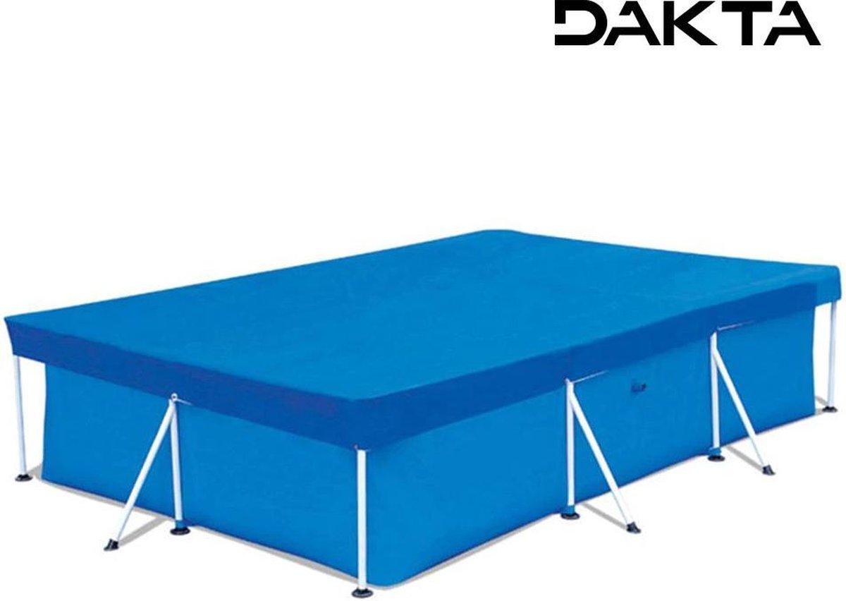Dakta® Afdekzeil Zwembad 300 x 200 cm | Super Sterk | Afdekzeil | Met Slijtvast Touw | Zwembad Accessoires | Gebruiksgemak | Rechthoekig | Blauw | 1 KG