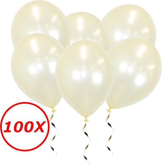 Witte Ballonnen Feestversiering Metallic Ivory Verjaardag 100st Bruiloft Ballon