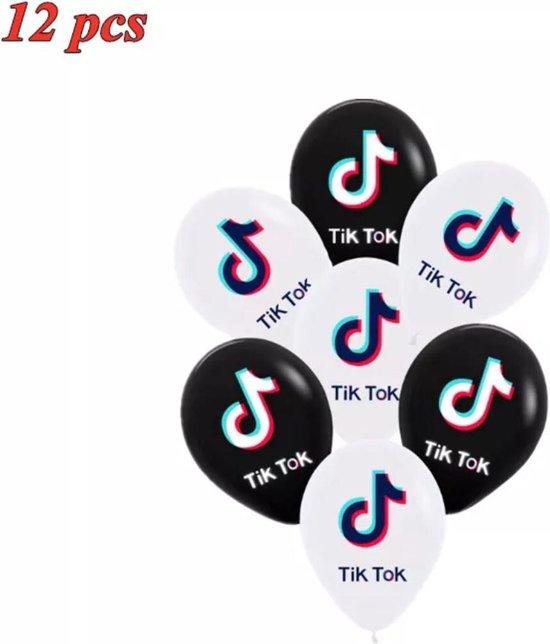 12 Stuks 12 Inch tik tok  Ballonnen tik tok Thema Latex Ballon Verjaardagsfeestje Decoratie Thema Feestartikelen Kinderen Speelgoed