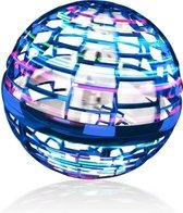 Fidget toys – Flying Spinner - Gyro Ball - FlyNova - mini drone – LED - Blue