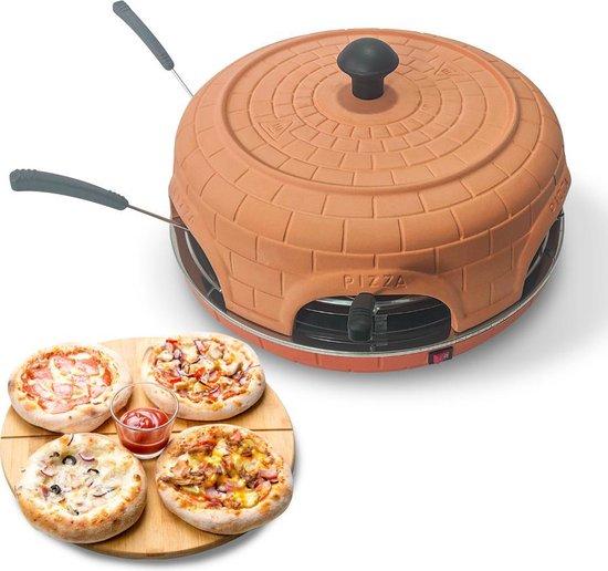 BluMill Pizza oven – 6 Personen – 1100 Watt – Pizzamaker - Incl. deegvorm en...