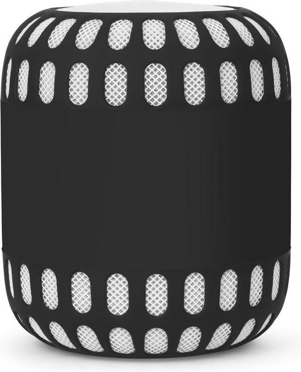Luxe Siliconen Soft Case Cover Hoesje Voor Apple Homepod Smart Speaker - Bumper Sleeve Beschermhoes - Optimale Bescherming Tegen Krassen & Stoten - Zwart